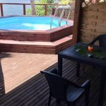 Orange-Passion piscine | Gites Bacchus | Bungalow Guadeloupe